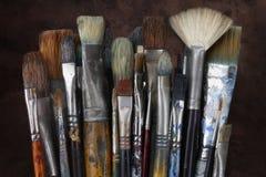 paintbrushes Royaltyfria Bilder