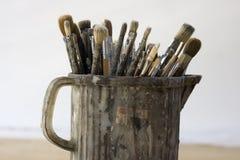 paintbrushes Royaltyfria Foton