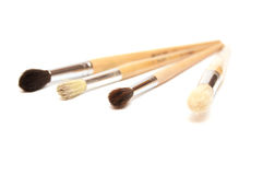 paintbrushes Arkivfoto