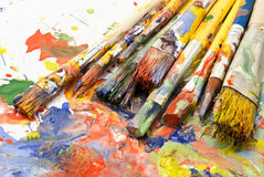 Paintbrushes. Stock Photos