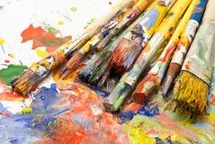 Paintbrushes. Stock Photos