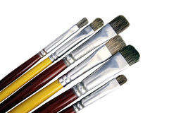 paintbrushes Royaltyfri Bild