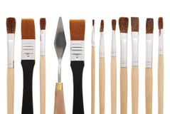 Paintbrushes. Isolated on white background Stock Image