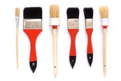 Paintbrushes. Isolated paintbrushes set on white background Royalty Free Stock Photography