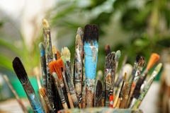 Paintbrushes Arkivbilder