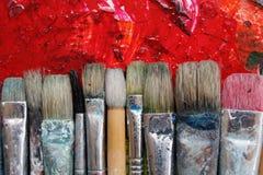 paintbrushes Arkivfoton