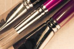 Paintbrushes close up Stock Photos