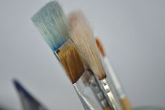 Paintbrushes. Close up Picture of paintbrushes Stock Images