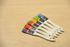 Paintbrushes with Copy Space stock images