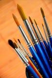Paintbrushes holder Stock Photography