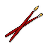 Paintbrushes Illustration Stock Photography