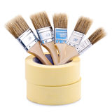 Paintbrushes Inside Tape Royalty Free Stock Image