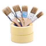 Paintbrushes Inside Tape Royalty Free Stock Image
