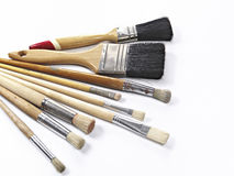 Paintbrushes isolaed on white background Royalty Free Stock Photos