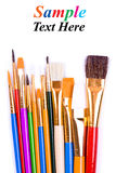 Paintbrushes isolated on white. Royalty Free Stock Images