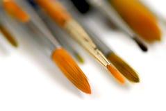 Paintbrushes macro Stock Image