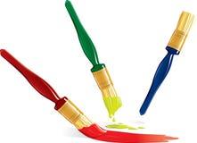 Paintbrushes over white. Illustration Royalty Free Stock Photos