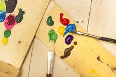 Paintbrushes and Paint Stock Images