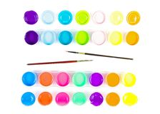 Paintbrushes and paint . Royalty Free Stock Photography