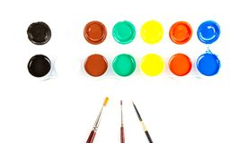 Paintbrushes and paint . Stock Photography