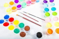 Paintbrushes and paint . Royalty Free Stock Images