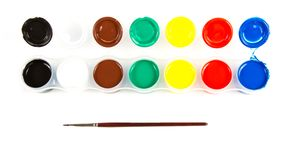 Paintbrushes and paint . Royalty Free Stock Photo