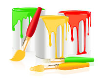 Paintbrushes and paintcan Royalty Free Stock Photo