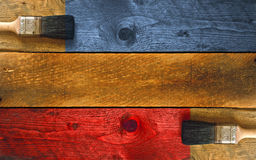 Staining a piece of timber Royalty Free Stock Photography