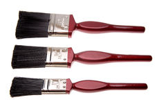 paintbrushes tre Arkivfoton