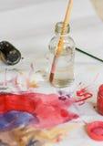 Paintbrushes ustawiający Obrazy Royalty Free