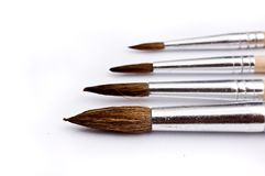Paintbrushes in various sizes Stock Photography