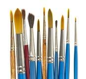 Paintbrushes on white Stock Photo