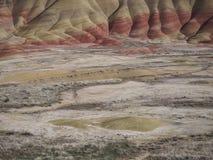 Painted小山色的层数  免版税库存图片