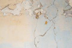 Painted崩裂了墙壁纹理 免版税库存图片