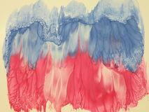 Painted abstract. Watercolors painted abstract with pink, white and blue colors Vector Illustration