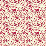 Painted abstract florals seamless pattern Royalty Free Stock Photo