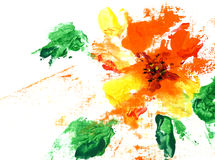Painted abstract flower Stock Photos