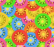 Painted Abstract Flower Seamless Pattern Stock Image