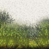 Painted Abstract Grass Texture Background Stock Image