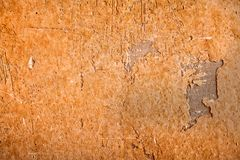 Orange concrete plaster wall background Royalty Free Stock Photo