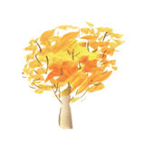 Painted abstract tree symbol. Royalty Free Stock Images