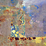 Painted Accent Rust Abstract. A colorful painted layered effect rust abstract Royalty Free Stock Photo