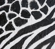 Painted african design black a Stock Photo