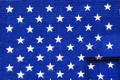 Painted America Flag Graffiti stars Royalty Free Stock Photography
