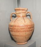 Painted amphora Miletus. 6 th century BC. Clay ,lacquer Royalty Free Stock Photos