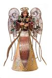 Painted Angel. A angel, decoration item made of metal and painted Royalty Free Stock Image