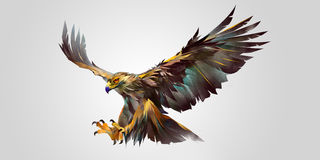 Painted angreifender Vogeladler vektor abbildung
