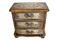 Painted antique chest of drawers Stock Photos