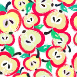Painted Apple Pattern Background Royalty Free Stock Images