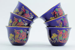 Painted Arabic Coffee Cups Royalty Free Stock Photo